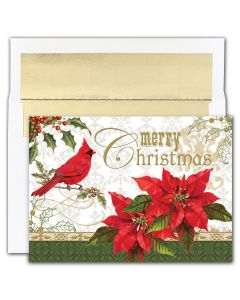 Merry Christmas Cardinal Cards from the Fine Impressions Holiday Collection.  | 3-FI-859900 | The Paper Mill Store .com