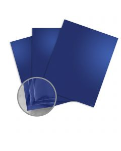 Mirricard Blue Card Stock - 27 1/2 x 39 3/8 in 12 pt Cover Mirror C/1S 200 per Package