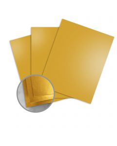 Mirricard Brushed Gold Card Stock - 27 1/2 x 39 3/8 in 12 pt Cover Mirror C/1S 200 per Package