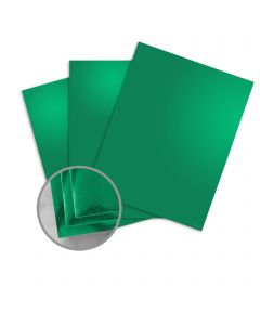 Mirricard Emerald Green Card Stock - 27 1/2 x 39 3/8 in 12 pt Cover Mirror C/1S 200 per Package