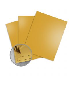 Mirricard Gold Card Stock - 27 1/2 x 39 3/8 in 12 pt Cover Mirror C/1S 200 per Package