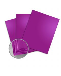 Mirricard Purple Card Stock - 27 1/2 x 39 3/8 in 12 pt Cover Mirror C/1S 200 per Package