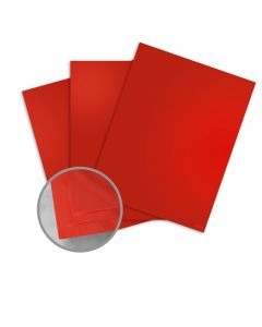 Mirricard Red Card Stock - 27 1/2 x 39 3/8 in 12 pt Cover Mirror C/1S 200 per Package