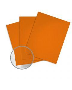 Keaykolour Pumpkin Card Stock - 27 1/2 x 39 3/8 in 111 lb Cover Vellum 100 per Package