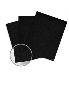 Leatherlike Black Card Stock - 28.3 x 40.2 in 133 lb Cover Traditional C1S 50 per Carton