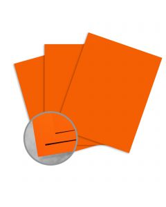 Plike Orange Card Stock - 28.3 x 40.2 in 122 lb Cover Smooth C/2S 50 per Package