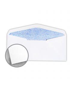 Printmaster White w/Blue Security Tint Envelopes - No. 10 Window (4 1/8 x 9 1/2) 24 lb Writing Wove 500 per Box