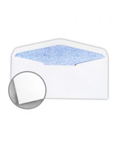 CH Heywood White w/Blue Security Tint Envelopes - No. 10 Commercial (4 1/8 x 9 1/2) 24 lb Writing Wove 500 per Box