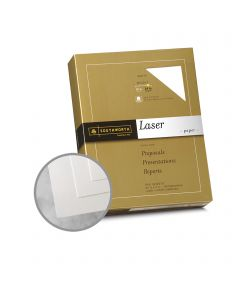 Southworth Business Laser 25% Cotton White Paper - 8 1/2 x 11 in 24 lb Bond Smooth  25% Cotton Watermarked 500 per Ream