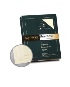 Southworth Business and Legal 100% Cotton Ivory Paper - 8 1/2 x 11 in 32 lb Bond Wove  100% Cotton Watermarked 250 per Package