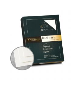 Southworth Business and Legal 100% Cotton White Paper - 8 1/2 x 11 in 20 lb Bond Wove  100% Cotton Watermarked 500 per Ream