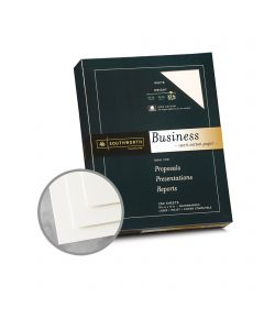 Southworth Business and Legal 100% Cotton White Paper - 8 1/2 x 11 in 32 lb Bond Wove  100% Cotton Watermarked 250 per Package