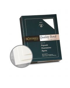 Southworth Business and Legal Quality Bond White Paper - 8 1/2 x 11 in 20 lb Bond Wove Watermarked 500 per Ream