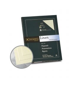 Southworth Business Linen 25% Cotton Ivory Paper - 8 1/2 x 11 in 24 lb Bond Linen  30% Recycled  25% Cotton Watermarked 100 per Package
