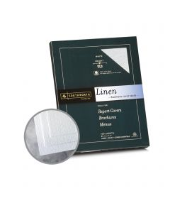 Southworth Business Linen 25% Cotton White Card Stock - 8 1/2 x 11 in 65 lb Cover Linen  30% Recycled  25% Cotton 100 per Package