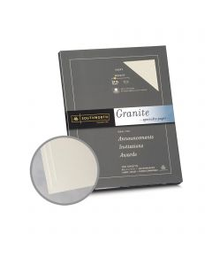 Southworth Specialty Granite 25% Cotton Ivory Paper - 8 1/2 x 11 in 24 lb Bond Granite  50% Recycled  25% Cotton Watermarked 100 per Package