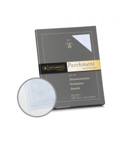 Southworth Specialty Parchment Blue Paper - 8 1/2 x 11 in 24 lb Bond Parchment 100 per Package