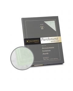 Southworth Specialty Parchment Celery Paper - 8 1/2 x 11 in 24 lb Bond Parchment 100 per Package