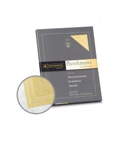 Southworth Specialty Parchment Gold Paper - 8 1/2 x 11 in 24 lb Bond Parchment 100 per Package