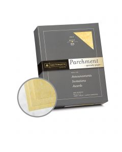 Southworth Specialty Parchment Gold Paper - 8 1/2 x 11 in 24 lb Bond Parchment 500 per Ream