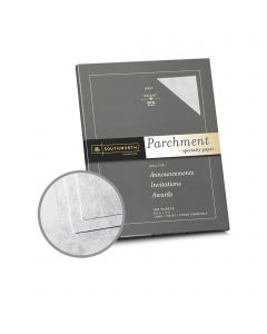 Southworth Specialty Parchment Gray Paper - 8 1/2 x 11 in 24 lb Bond Parchment 100 per Package