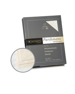 Southworth Specialty Parchment Ivory Paper - 8 1/2 x 11 in 32 lb Bond Parchment 250 per Package