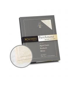 Southworth Specialty Parchment Ivory Paper - 8 1/2 x 11 in 65 lb Bond Parchment 100 per Package