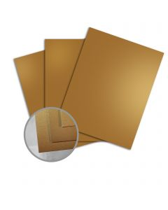 Splendorlux Gold Paper - 8 1/2 x 11 in 16 pt Cover Glossy C/1S 200 per Package
