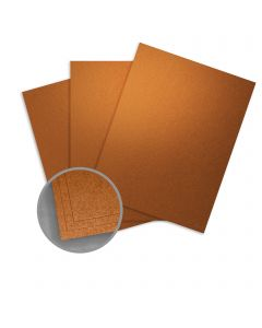 Stardream Copper Card Stock - 8 1/2 x 11 in 105 lb Cover Metallic C/2S 100 per Package