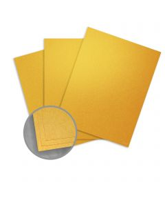 Stardream Fine Gold Card Stock - 8 1/2 x 11 in 105 lb Cover Metallic C/2S 100 per Package