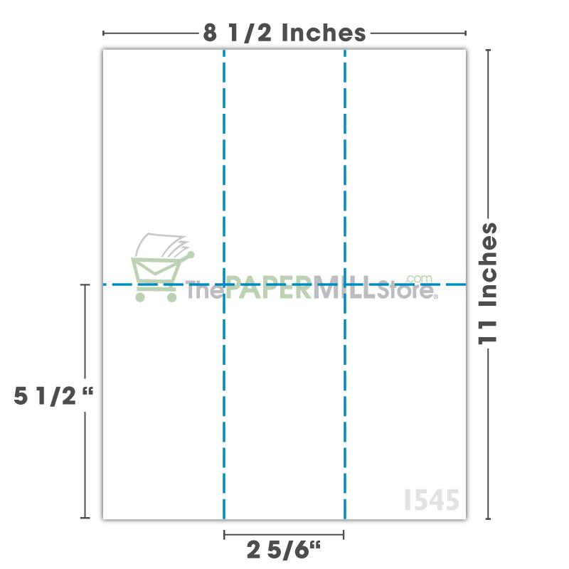 PF32 - 2 5/6 x 5 1/2 - 3 Columns & 2 Rows
