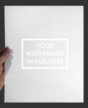 sample watermark image has a background light to illuminate the mark for web viewing purposes